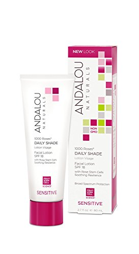 Andalou Naturals 1000 Roses Day Shade Facial Lotion SPF 18, 2.7 Fluid Ounce