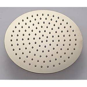 "Rozin® Bathroom Round 10"" Rainfall Shower Head Top Spray Brushed Nickel"