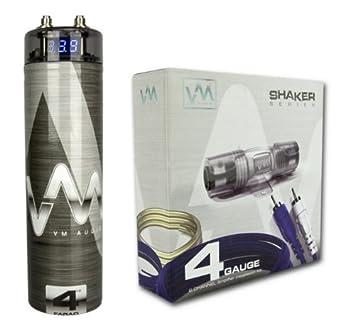 amazon com vm audio srsk4b 4 gauge car amplifier amp wiring kit rh amazon com amplifier capacitor wiring amplifier capacitor wiring diagram
