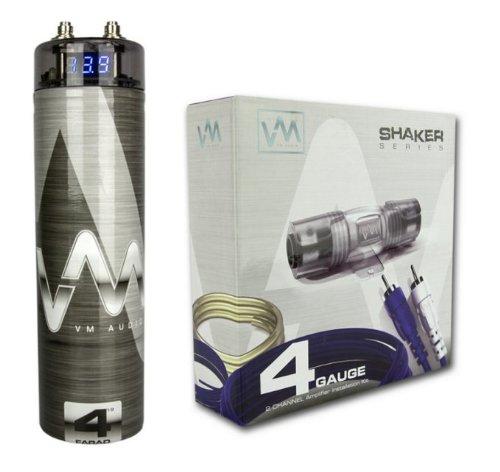 VM Audio 4 Gauge Amplifier Wiring Kit w/ 4.5 Farad VM Audio (Cellular Amplifier Cradle Kit)