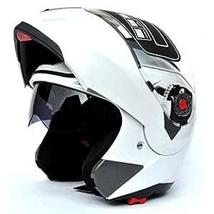 Casco integral de cara unisex modular abatible frontal ABS casco traje de bicicleta de carretera casco de moto xx-large blanco