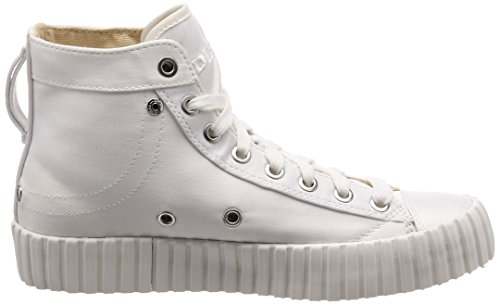 Woman 39 Donna White Diesel Stivaletto S White Sneaker Exposure CMC wHxTR1Yx