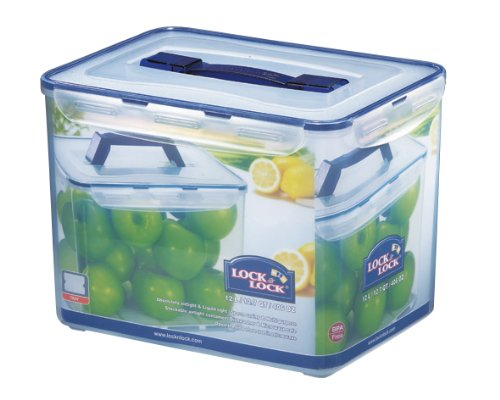 Lock & Lock Rectangular Storage Container - Clear/Blue, 12 L HPL889