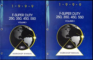 1999 Ford F-Super Duty 250 350 450 550 and Motorhome Repair Shop Manual Set - Ford E-350 Motorhome