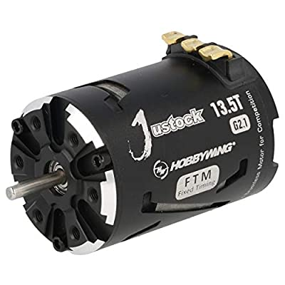 JUSTOCK Black G2.1 brushless Motor for 1/10, 1/12, Zero Timing, Spec Racing (13.5T G2.1): Toys & Games