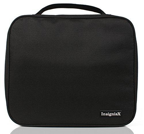 Unisex Toiletry Bag: InsigniaX Travel Cosmetic Organizer For Men Women Boys Girls H: 9.8 x W: 4.4 x L: 8.3 (Large, Black)