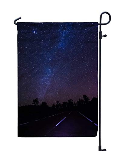 Shorping Welcome Garden Flag, 12x18Inch Road Through National Park Tenerife at for Holiday and Seasonal Double-Sided Printing Yards -