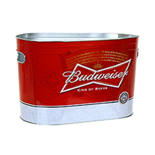 budweiser-beer-oblong-metal-painted-ice-gift-bucket-tub-tote-by-non-branded