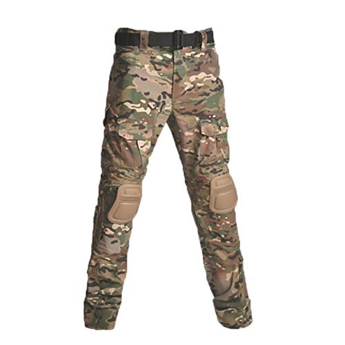 Military Ba Men's Assault Tactical Pants Lightweight Cotton Outdoor Military Combat Cargo Trousers-CP-US 32(35-37W tag 34)