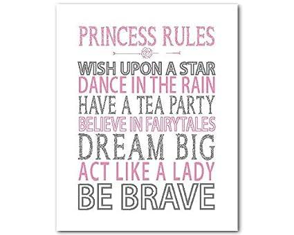 Amazon com: CANVASPrtint Princesss Wall Art PRINT Princess Rules
