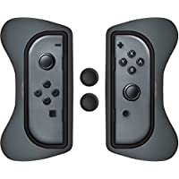 Surge Nintendo Switch Grip Kit, Joy-Con Grips & Thumb Grips - Gris