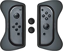 Surge Nintendo Switch Grip Kit, Joy-Con Grips & Thumb Grips - Grey