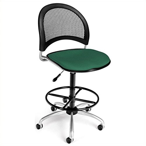 OFM 336-DK-2201 Moon Swivel Chair with Drafting Kit, Shamrock Green by OFM (Image #1)