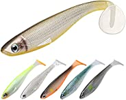 TRUSCEND Fishing Lures, Pre-Rigged Soft Swimbaits Lure with Ultra-Sharp BKK Hook, Bass Lures with Paddle Tail