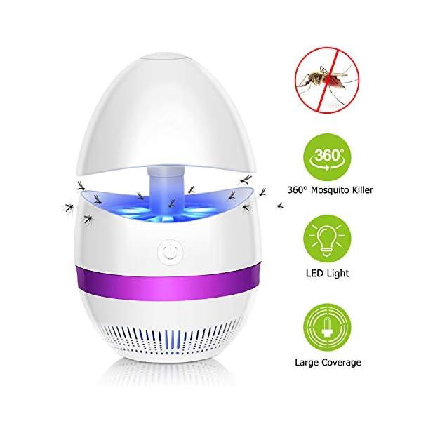 SUNNEST - Zapper zanzare UV Insetti, Portatile, per Camera da Letto, Cucina, Ufficio, casa, Uso Interno (Bianco) 1 spesavip