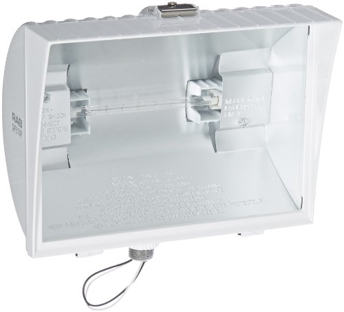 Decorative Hood Curve (RAB Lighting QF300FW Quartz Curve Floodlight, Aluminum, 300W Power, 6100 Lumens, 120V, White)