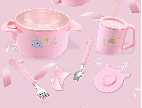 最新作の Xing Lin子供のテーブルウェアセットベビー水断熱材Suckerボウルステンレススチールテーブルウェアボウルスプーンフォークベビーフードパッケージ 6 pieces 6906981989034 Pink Xing 6 pieces B078RK22VS, オフィスキングダム:e734d4ea --- beyonddefeat.com