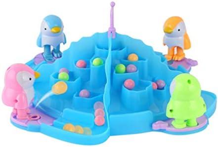 Toyvian 1セットアイスホッケーグッズミニペンギンキッキングビーズゲームデスクトップアイスホッケーの両親の子供のためのゲームをプレイ