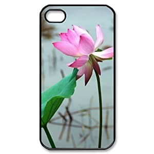 Beautiful lotus Custom Cover Case with Hard Shell Protection for Iphone 4,4S Case lxa#892698