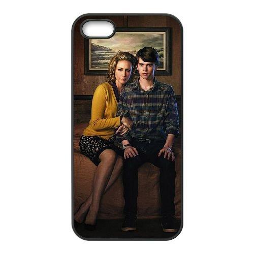 Bates Motel 2 coque iPhone 4 4S cellulaire cas coque de téléphone cas téléphone cellulaire noir couvercle EEEXLKNBC23373