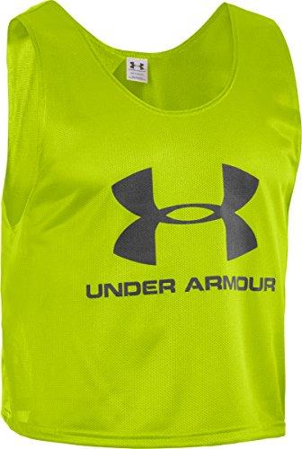 Under Armour Youth Unisex Gdison Training Bib X-Small Velocity/Black (Armour Under Bib)