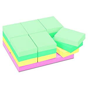 Post-it Notes 65324APVAD Original Pads in Marseille Colors, Value Pack, 1 1/2 x 2, 100-Sheet (Pack of 24)