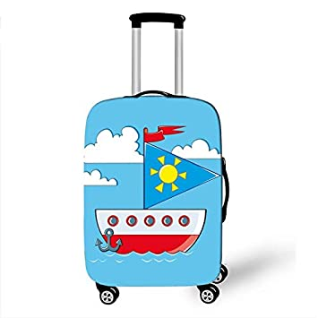 5, M Simple Luggage Case Protective Cover Elastic Dust Kawaii Suitcase Case Waterproof Thicken Apply 18-32 Inche Travel Accessories