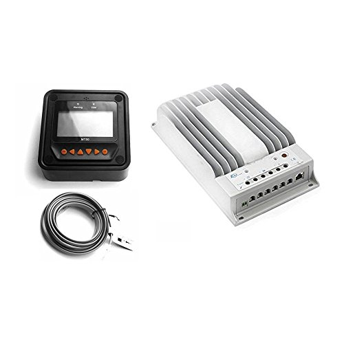 EPsolar Tracer 3215BN MPPT Solar Battery Charge Controller Regulator 30A 12/24V+MT50 by EPsolar