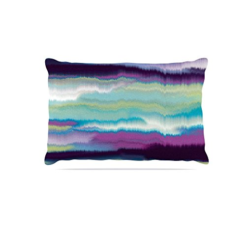 Kess InHouse Nina May Artika bluee  Fleece Dog Bed, 50 by 60 , Teal Purple