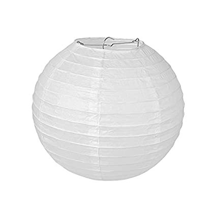 Pajoma 71696 - Lámpara de techo, papel, blanco, 30 x 30 x 30 ...