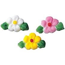 Lucks Dec-Ons Molded Sugar Cake Topper, Leafed Flower Charms Assortment, 7/8 Inch, 378 Count