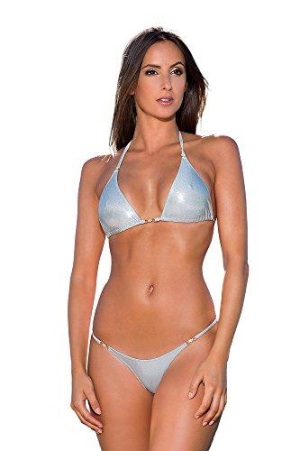 verde oro Bikini nbsp; Costume bagno metallizzato Sexy argento blu String da arancione wUqU8