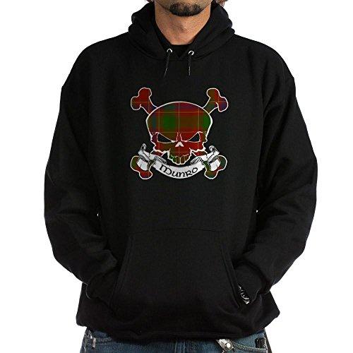 CafePress Munro Tartan Skull Hoodie (dark) - Pullover Hoodie, Classic & Comfortable Hooded ()
