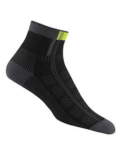 Wigwam Athletic Socks Rebel Fusion Quarter II, Black, Medium