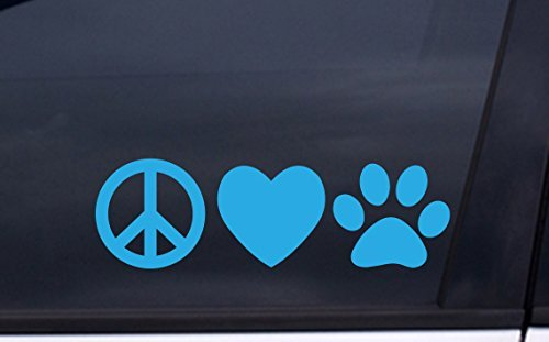 focenterprises-peace-love-dog-paw-vinyl-decal-3x7-blue-rescue-pound-puppy-sticker
