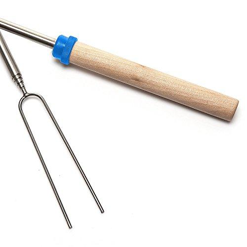 Yakura 8 Piece Marshmallow Roasting Sticks, Telescoping Smore Skewers For Bbq Hot Dog Fork Patio Fire Pit Camping by Yakura (Image #1)