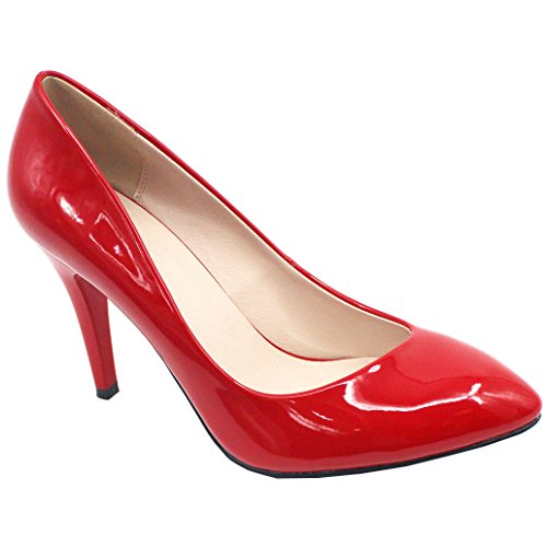 Heel Womens High Pumps Wedding Proelegant Red Shoes Woman ZAPROMA OfgAnPt