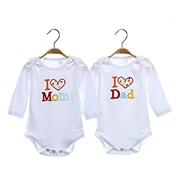 254b2233d Amazon.com   2PCS LOT Newborn Baby Clothing Long Sleeve Cotton baby ...