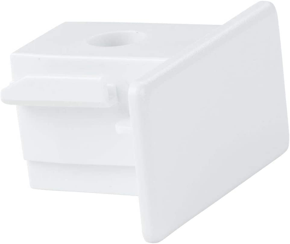 famlights 1-Phasen Schienensystem Endkappe in Schwarz 2er-Set aus Kunststoff edle Endkappen zur Montage an Hochvoltschiene flexible Innenbeleuchtung