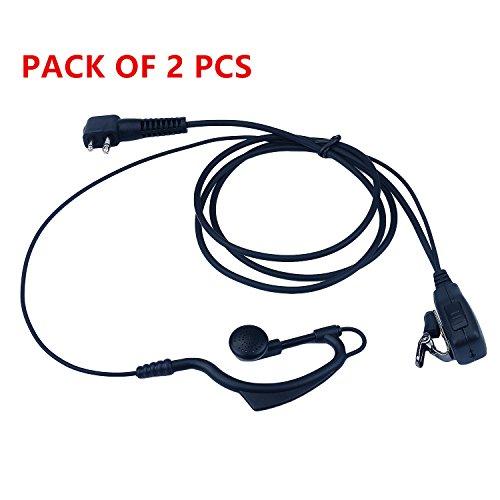 KEYBLU G Shape Police Earpiece Headset PTT Mic for 2-pin Mot