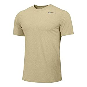 Nike Men's Shirt Short Sleeve Legend (Medium, Vegas Gold)