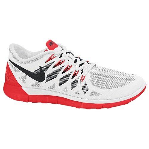 Mens Nike Free 5.0 2014 - White/Black/University Red/Pure Platinum (9)