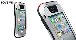 Love Mei Multifunction Upgraded Version Phone Case for Iphone 4/4s (Silver)