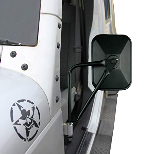 Jeep Mirrors JK JL TJ YJ CJ. Easy-Install Adventure Mirrors + Bonus Product. Improved Design. for All Jeep Wrangler. Quicker Install Door Hinge Mirror for Safe Doors Off -