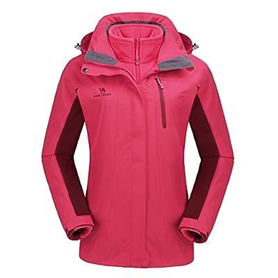 CAMEL CROWN Waterproof Ski Jacket 3-in-1 Women's Outdoor Mountain Windproof Fleece Warm Coat for Rain Snow Hiking
