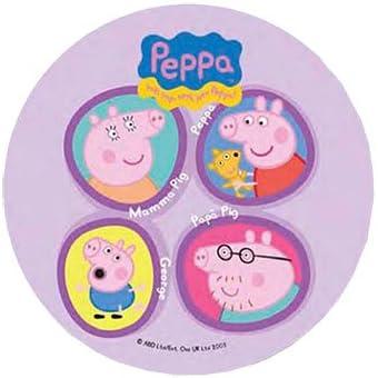 Peppa PIG~tarta 20,5 cm oblea comestible/arroz IV. TAZA DE ...