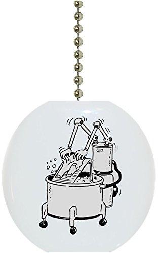 - Robotic Washing Machine Laundry Solid Ceramic Fan Pull