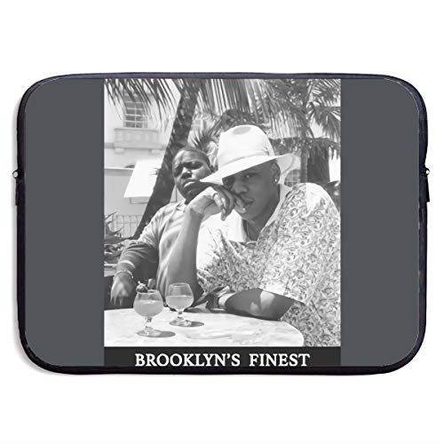 Laptop Sleeve Bag Jay-Z & Biggie Men's Brooklyn's Finest 13/15 Inch Notebook Computer, Vertical Style Water Repellent Polyester Protective Case Cover 15 Inch Theme Laptop Sleeve Bag