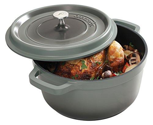 Cheap Crock Pot 79566.02 Edmound 5 Quart Cast Aluminum Dutch Oven with Lid, Gradient Grey
