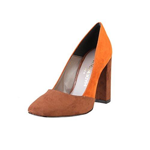 à Arancione Aiguilles Made Shoes in Talons Femme Chaussures Italia 8xIn4anwqF